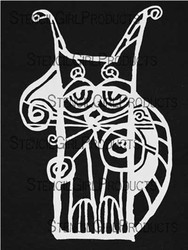 Stencil Girl Products, Stencil, L405, Scrappy Cat, Scrapify, Australia