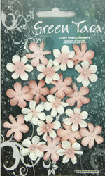 Green Tara, Mini Flowers, Antique Pink, 20pk, Scrapify, Australia
