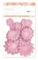Kaiser scrapbook Flowers asst sizes , Approx 60, Antique Pink, Scrapify, Australia