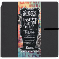 Dylusions Creative Journal - Art Journal Black, 8in x 8in, 48 pages, Scrapify, Australia