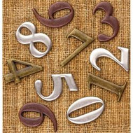"Prima, Finnabair, Sunrise Sunset, Mechanicals, Metal Vintage Trinkets Numbers, 1"", 10/Pkg, Scrapify, Australia"