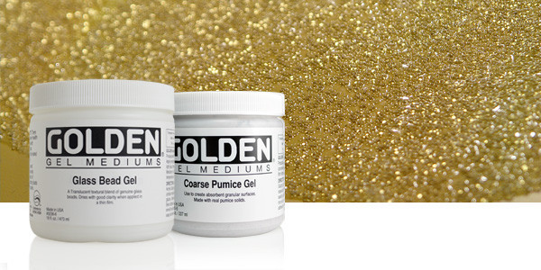 golden glass bead gel 8oz 236mls