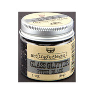 Prima, Finnabair, art ingredients, Glass Glitter, Pitch Black, 2 oz, Scrapify, Australia