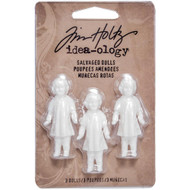"Tim Holtz, Idea-ology Salvaged Dolls 1.75"" 3/Pkg, Scrapify, Australia"