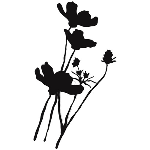 """Donna Downey Cling Rubber Stamps 4""""X 7"""", wild poppy silhoette, Scrapify, Australia"""