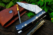 """DKC-34 OFFICER 8"""" Long 4.5""""Folded 5.7 oz Pocket Folding Damascus Knife DKC Knives ™Hand Made Incredible Look Feel"""