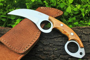 "DKC-87 OWL FOX D2 Steel Skinner Hunting Knife 8""Long 6.2oz High Class Looks Incredible Feels Great In Your Hand And Pocket Hand Made DKC Knives"