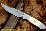 "DKC-519 UNICORN Damascus Hunting Handmade Knife Fixed Blade 9.3 oz 9"" Long"