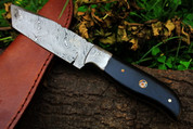 "DKC-522 INTREPID Damascus Tanto Hunting Handmade Knife Fixed Blade 8.9 oz 9"" Long"