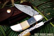 KC-705 GREENWICH Damascus Folding Pocket Knife