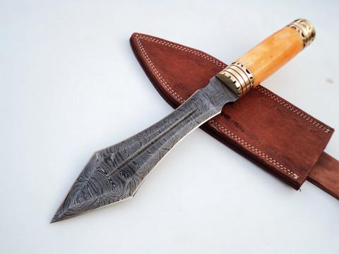 """DKC-805 Jungle Viper Damascus Steel Knife DKC Knives (TM) 17 oz 7.5"""" Blade 12"""" Overall"""