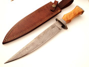 "DKC-815 TORINO Bowie Damascus Steel Knife 14"" Overall 9"" Blade 15 oz (DKC-815)  DKC Knives"