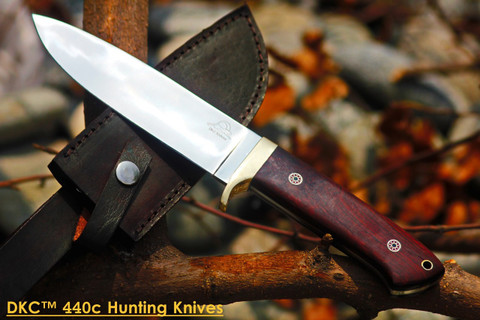 "DKC-601-440c TIGER JACK Standard Stainless Steel Bowie Hunting Knife 11"" Long, 6"" Blade 10.9 oz ! Rare Snakewood Handle"