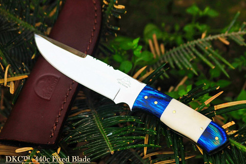 "DKC-521-440c BLUE MOON 440c Stainless Steel Hunting Handmade Knife Fixed Blade 7 oz 9"" Long"