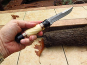 "DKC-6004 Castle Twister Damascus Steel Hunting Knife DKC Knives 7.5oz 10.5""Long 5.75'' Blade"