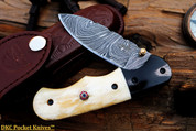 """DKC-49 PANDA Damascus Folding Pocket Knife 4.5"""" Folded 8"""" Long 6.3oz High Class Looks Incredible Feels Great In Your Hand And Pocket Hand Made DKC Knives ™"""