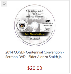 2014 COGBF Centennial Convention - Sermon DVD - Elder Alonzo Smith Jr.