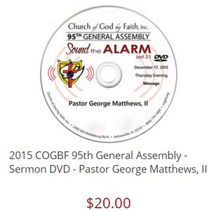Pastor George Matthews, II 95 General Assembly [DVD]