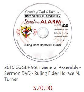 Ruling Elder Horace N. Turner 95 General Assembly [DVD]