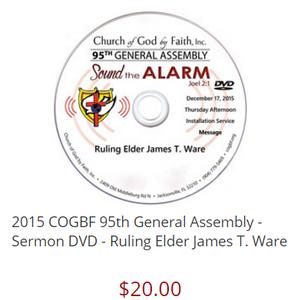 Ruling Elder James T. Ware - 95 General Assembly [DVD]