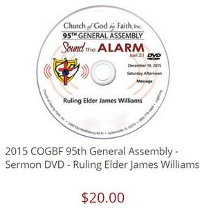 Ruling Elder James Williams - 95 Gen. Assembly [DVD]