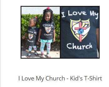 I Love My Church - Kid's T-Shirt