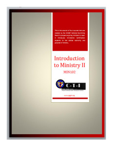 Introduction to Ministry 102
