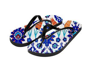 Sublimation Flip Flops with 3 Strap Color Options and Black Base - Adult Large