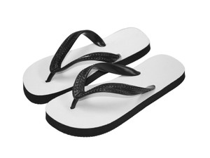 Sublimation Flip Flops with 3 Strap Color Options and Black Base - Youth Large