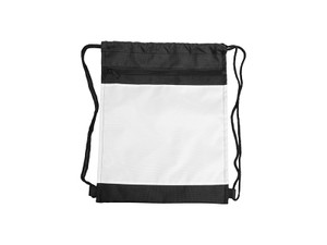 14 x 17 Polyester Drawstring Backpack with Pockets and Black Back