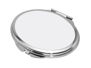 2.5 x 3 inch (6.3cm x 7.2cm) Oval Shaped Compact Mirror