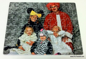 7.5 x 8.5 in 80 Pieces Gloss Cardboard Jigsaw Puzzle
