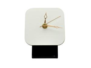 Hardboard 4x4 inch Desk Clock Kit with a White Gloss Finish