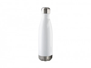 17oz 500ml Stainless Steel Cola Shaped Bottle with White Coating