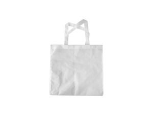 "Poly Canvas Tote/Shopping Bag with White Handles 14.96"" x 15.35"""