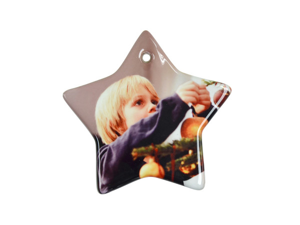 Star Shaped Ceramic Ornament with Hole
