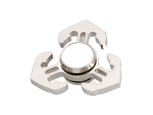 Silver Fidget Spinner with Anchors