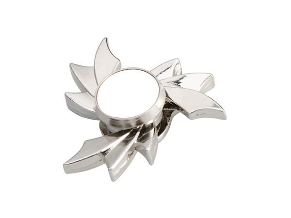 Silver Fidget Spinner with Hot Wheel Design