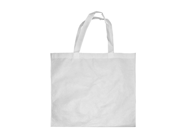 """Poly Canvas Tote/Shopping Bag with White Handles 14.96"""" x 15.35"""""""