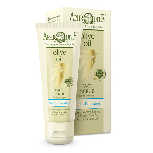 The ground olive and almond seeds provide exfoliation of the dead skin cells while the soothing chamomile and grapeseed oils leave the skin soft and supple
