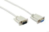2M DB9M/DB9F Null Modem Cable