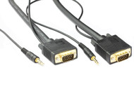 1M SVGA HD15M/M Cable With 3.5MM Audio