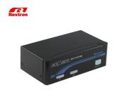 Rextron 2 Port DVI USB KVM Switch