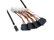 1M Internal Mini SAS HD to 4xSAS29 And Power Cable