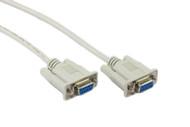 15M DB9F/DB9F Null Modem Cable