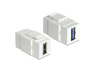 USB 3.0 F/F Jack for Wall Plate