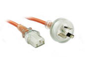 1M Medical Power Cable Orange