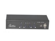 4 Port DVI USB KVM Switch Supports Audio