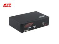 Rextron 2-Port HDMI KVM Switch w/ Audio & Hotkey Control