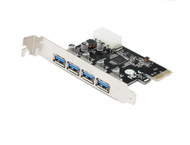 PCI Express 4 Port USB 3.0 Card with NEC/Renesas µPD720201 Chipset